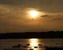 solnedgang ved Fænøsund